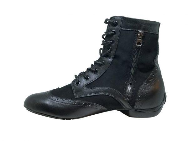 black boot dance shoes