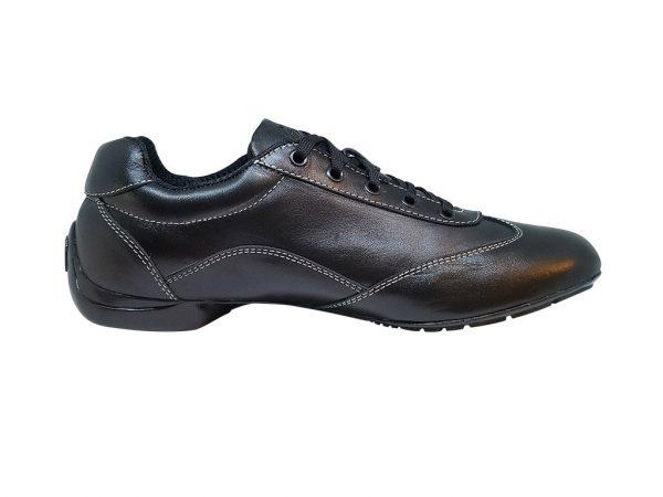 black leather dance shoes 1