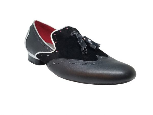 black silver dance shoes