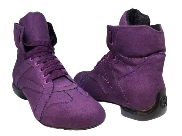woman purple dance boots