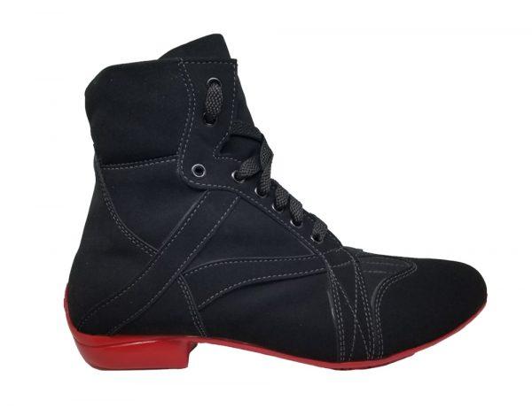 black dance booties