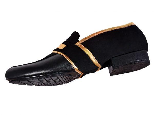 3 black loafer dance shoes