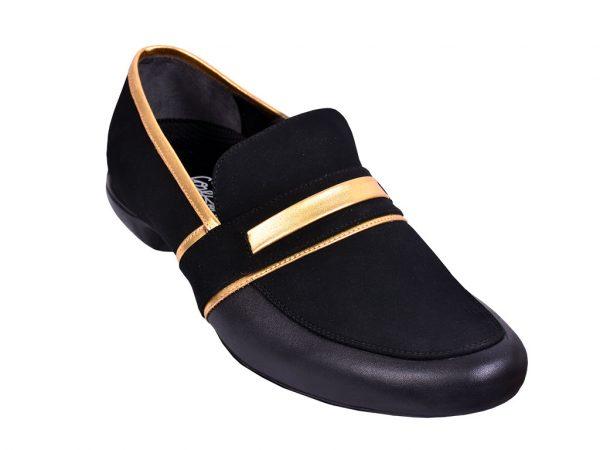 black loafer salsa shoes
